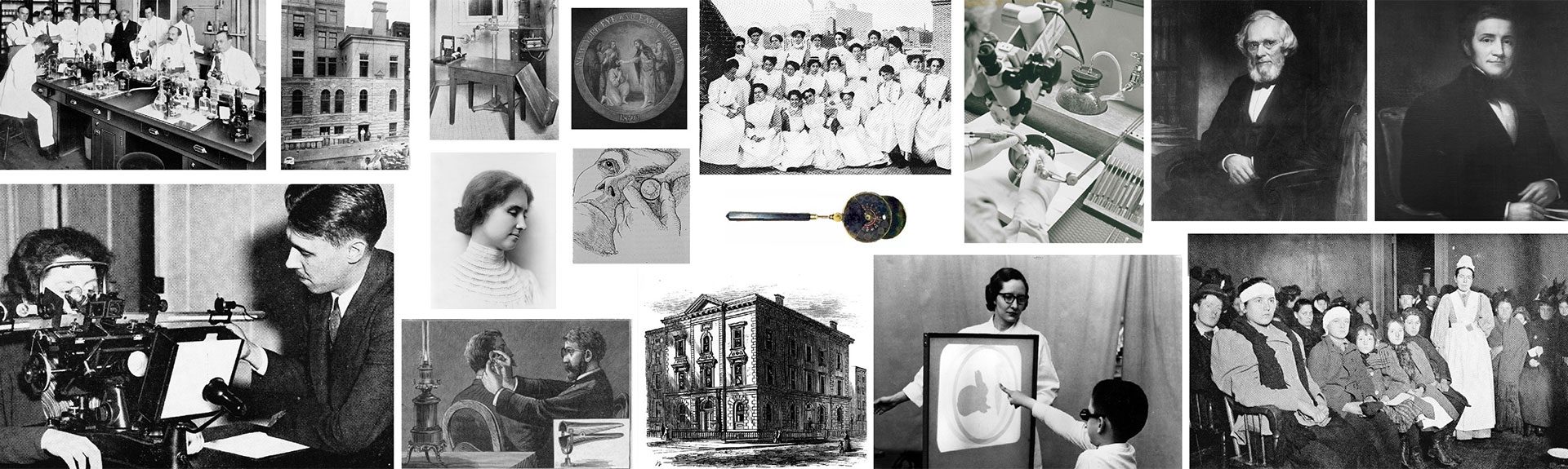 Collage of historical photographs